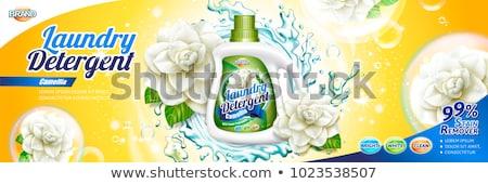 Csomagolás design sablon szennyes mosószer fürdőszoba hirdetés Stock fotó © SArts