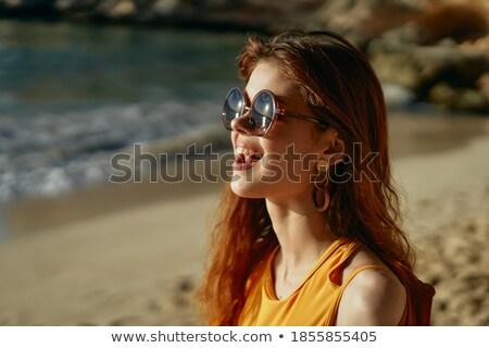 magnifico · modello · spiaggia · giovani - foto d'archivio © deandrobot