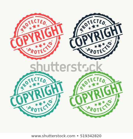 copyright badge rubber stamp set in different colors stock photo © sarts