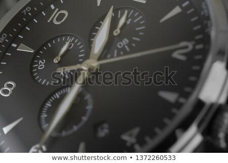 beyaz · adam · Metal · kronometre · yalıtılmış · vermek · beyaz - stok fotoğraf © borysshevchuk
