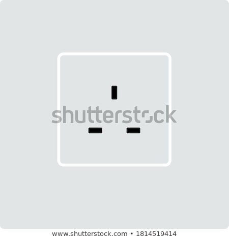 great britain electrical socket icon stock photo © angelp