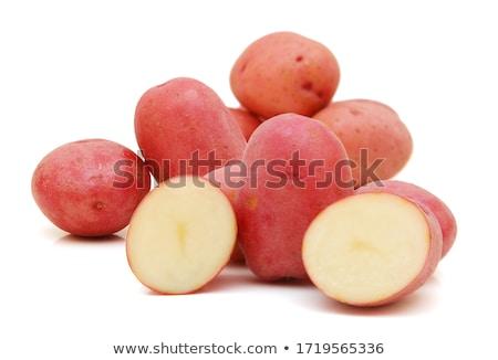 красный картофеля Сырая пища таблице фон Кука Сток-фото © racoolstudio