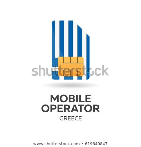Greece mobile operator. SIM card with flag. Vector illustration. Stock photo © Leo_Edition