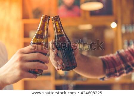 gelukkig · vrienden · genieten · koffie · samen · buiten - stockfoto © wavebreak_media