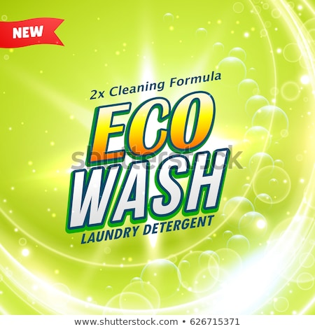 laundry detergent creative packaging concept design in green col Stock photo © SArts