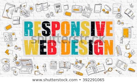 Stock fotó: Web · design · fehér · firka · stílus · ikonok · körül