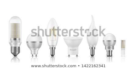 Szett különböző 3D fotó valósághű villanykörték Stock fotó © kup1984