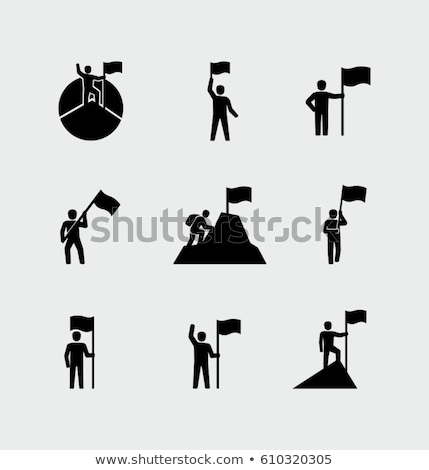 Icon of a man  climber  Stock photo © Olena