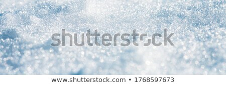 Freezing snow pattern close-up, winter holidays background, Stock photo © artfotodima