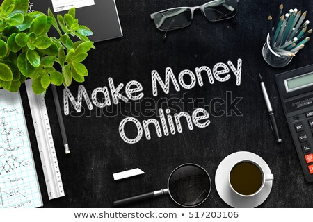 Make Money Online Concept on Black Chalkboard. 3D Rendering. Stock photo © tashatuvango