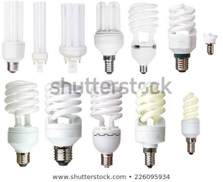 energii · oszczędność · zwarty · fluorescencyjny · żarówka · spirali - zdjęcia stock © is2