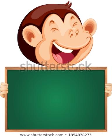 majom · jegyzet · sablon · illusztráció · textúra · háttér - stock fotó © bluering