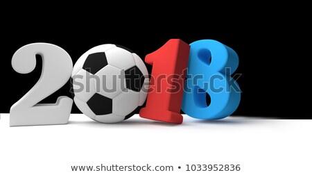 サッカー サッカー ボール 赤 青 色 ストックフォト © Wetzkaz