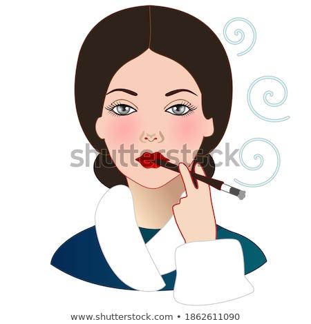 Sigaretta vettore cartoon illustrazione isolato bianco Foto d'archivio © RAStudio
