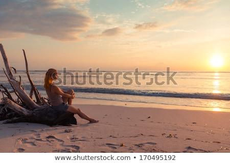 Women Watching The Sun Set Foto stock © nikitabuida