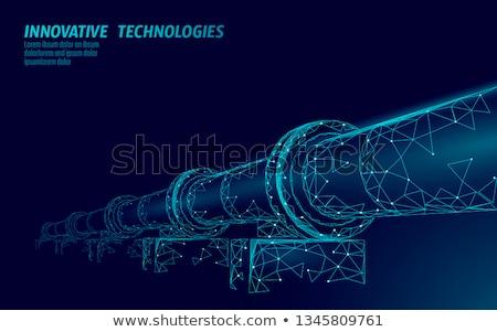 Rurociąg metal zielone oleju przemysłowych stali Zdjęcia stock © martin33