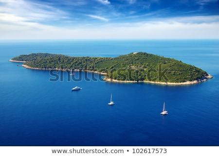 リモート 島 クルーズ クロアチア ボート 休暇 ストックフォト © Suljo
