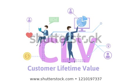 Klienta wartość tekst notebooka komputera smartphone Zdjęcia stock © Mazirama