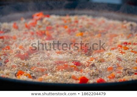 シーフード · パン · 穀物 · 食事 · ニンニク · 豆 - ストックフォト © is2