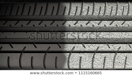 Tyre Tread Morphing To Ground Stock photo © albund