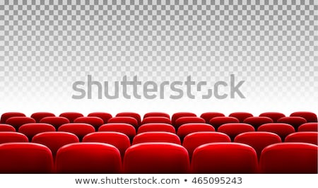 Rows of red seats on transparent background. Vector Stock photo © Andrei_