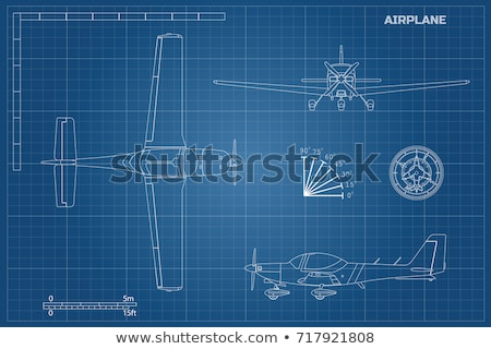 Civil aircraft drawing Stock photo © tracer