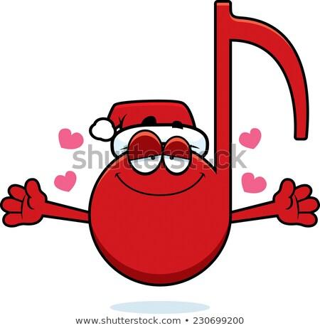 Cartoon Natale musica abbraccio illustrazione Foto d'archivio © cthoman