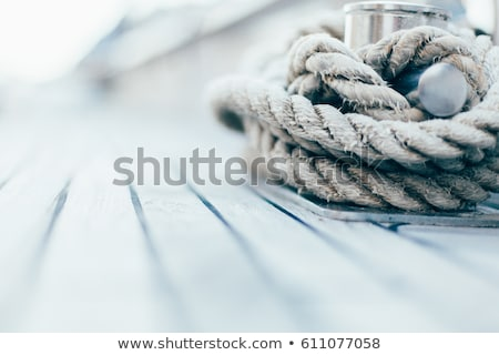winch with rope on the boat stock photo © boggy