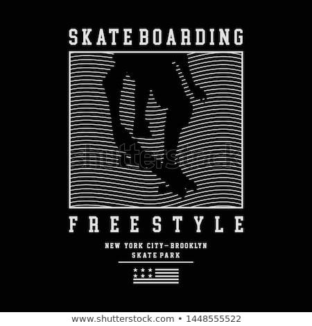 Skateboarding impresión Nueva York camiseta diseno gráfico gráfico Foto stock © Andrei_