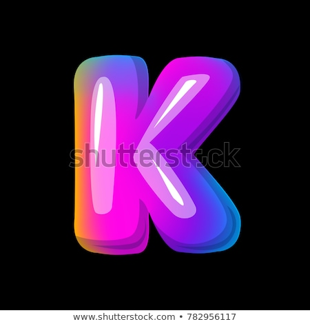 Black and Blue 3d Bold Curvy Letter A and K Vector Illustration Stock photo © cidepix