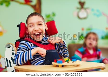 çocuklar tekerlekli sandalye örnek erkek kız hastane Stok fotoğraf © colematt
