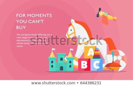 caballo · caballo · de · oscilación · mecedora · madera · juguete - foto stock © pikepicture