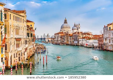 Venetië · gondel · kanaal · Italië · zonsondergang · reizen - stockfoto © vapi