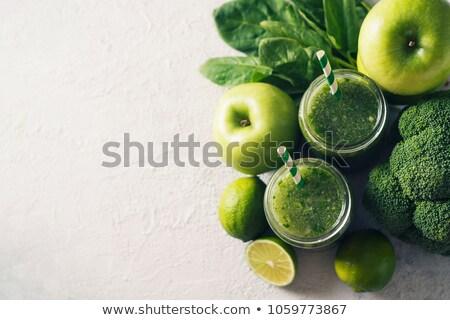 Mason jar zielone soku warzyw zdrowe odżywianie Zdjęcia stock © dolgachov