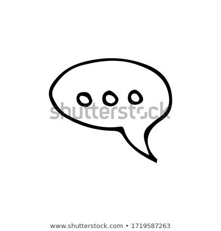 schets · doodle · speech · cloud · illustratie · ingesteld · teken - stockfoto © rastudio