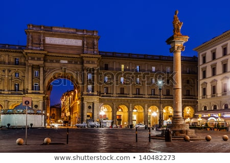 Column of Abundance at Piazza della Repubblica in Florence, Ital Stock photo © boggy