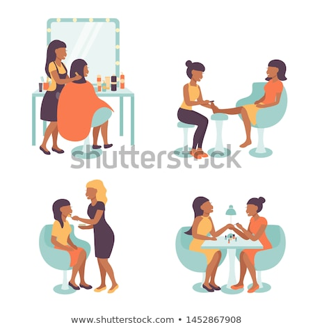 Spa salon kapper ingesteld vector geïsoleerd Stockfoto © robuart