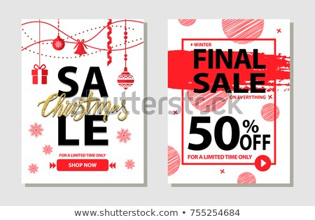 Winter Final Sale Limited Time Only 50 Percent Stock photo © robuart