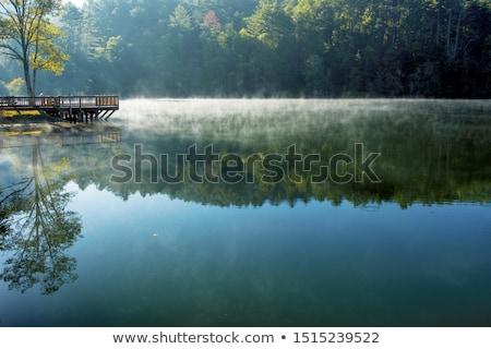 Ochtend landschap berg meer Georgië heldere hemel Stockfoto © Kotenko