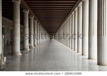 Griego columnas habitación dos espacio de la copia 3d Foto stock © make