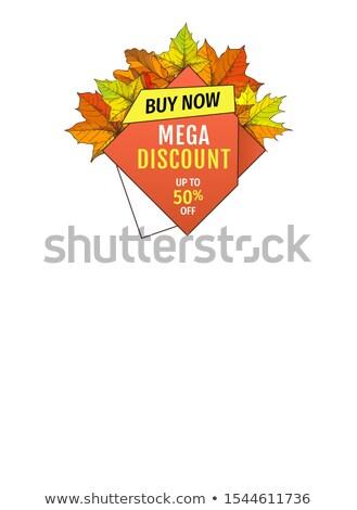 automne · feuillage · action · de · grâces · emblème · bannière · couleurs - photo stock © robuart