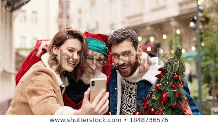 foto · gelukkig · gezin · kerstboom · home · familie - stockfoto © dolgachov