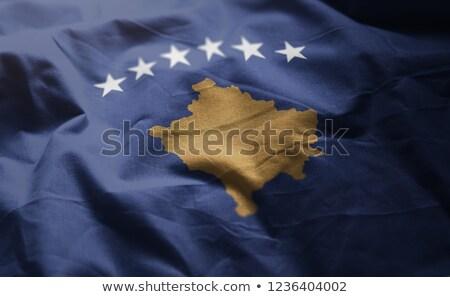 República Kosovo bandeira secar terra terreno Foto stock © grafvision