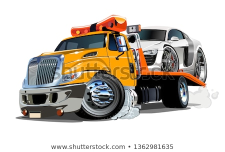 Cartoon Tow Truck Isolated On White Background Stock fotó © Mechanik