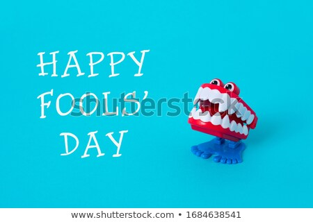 funny denture and text happy april fools day Stock photo © nito