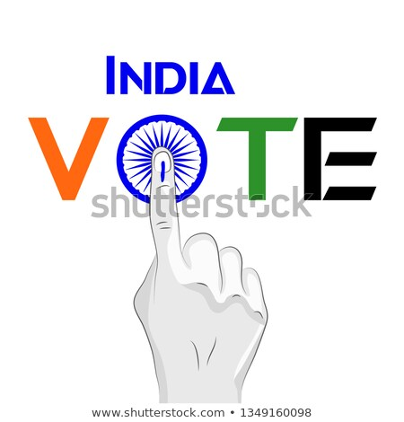 Wyborów głosowania Indie plakat projektu banderą Zdjęcia stock © SArts