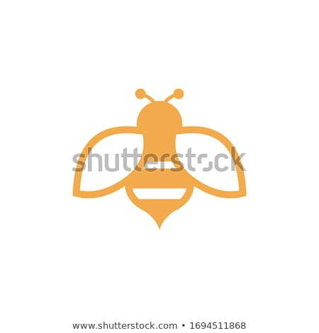 Cute bee schets ingesteld illustratie icon Stockfoto © Blue_daemon