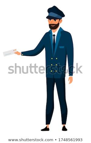Train Conductor Illustration Stock photo © artisticco
