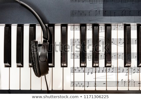 Music keyboard and note Stock photo © colematt