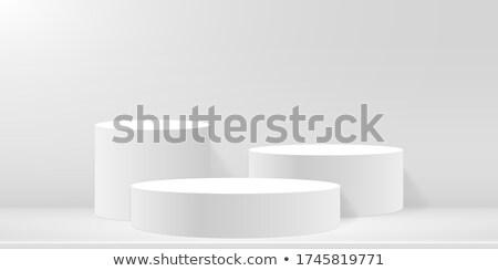biały · kółko · wystawa · stoją · odizolowany · 3d - zdjęcia stock © djmilic
